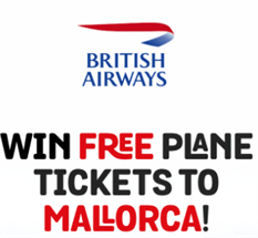 Email Submit - Win A Free Plane Tickets To Mallorca  CPA offer