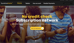 Sunshine Mobile - No Credit Checks CPA offer